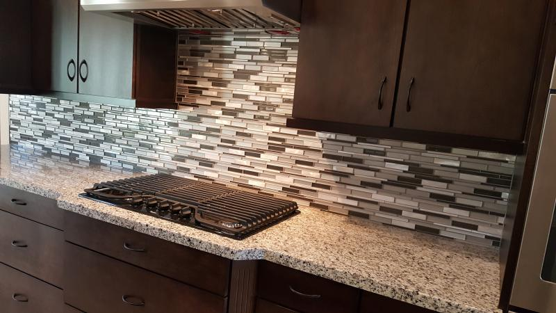 12 in. x 12 in. x 6 mm Glass and Porcelain Mosaic Kitchen Backsplash.